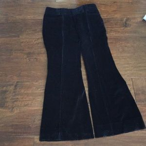 Banana Republic Black Corduroy Flare Leg Pants